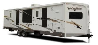 V-cross travel trailer