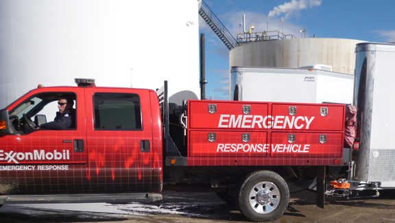 Hensley Arrow on Exxon-Mobil Emergency Response Trailers.
