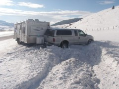 Trailer Sway on Snow
